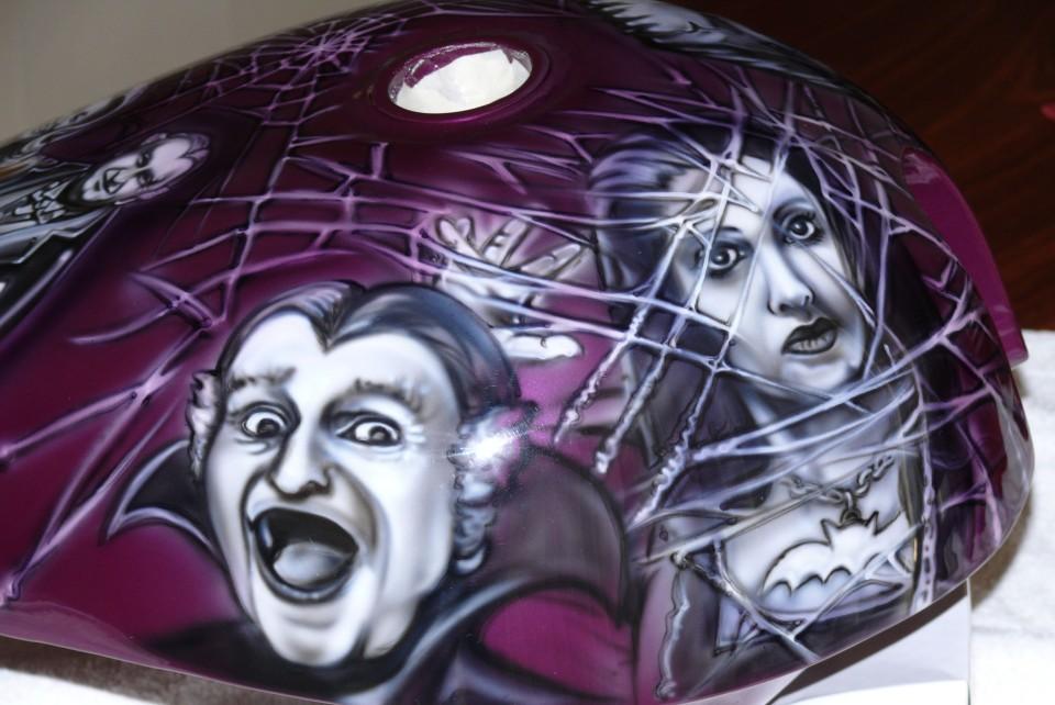 Airbrush art-airbrush chopper-airbrush motorbike-munsters2