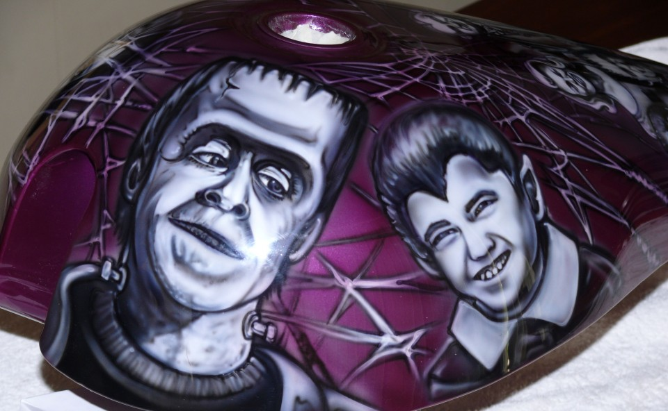 munsters chopper airbrush art professional air brush artist in perth wa. Black Bedroom Furniture Sets. Home Design Ideas