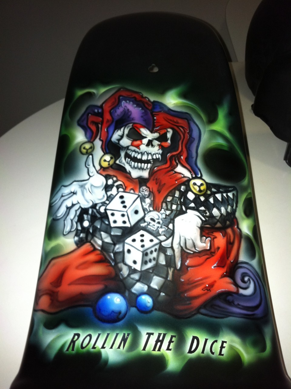 airbrush art-joker and dice-airbrush joker and dice guard
