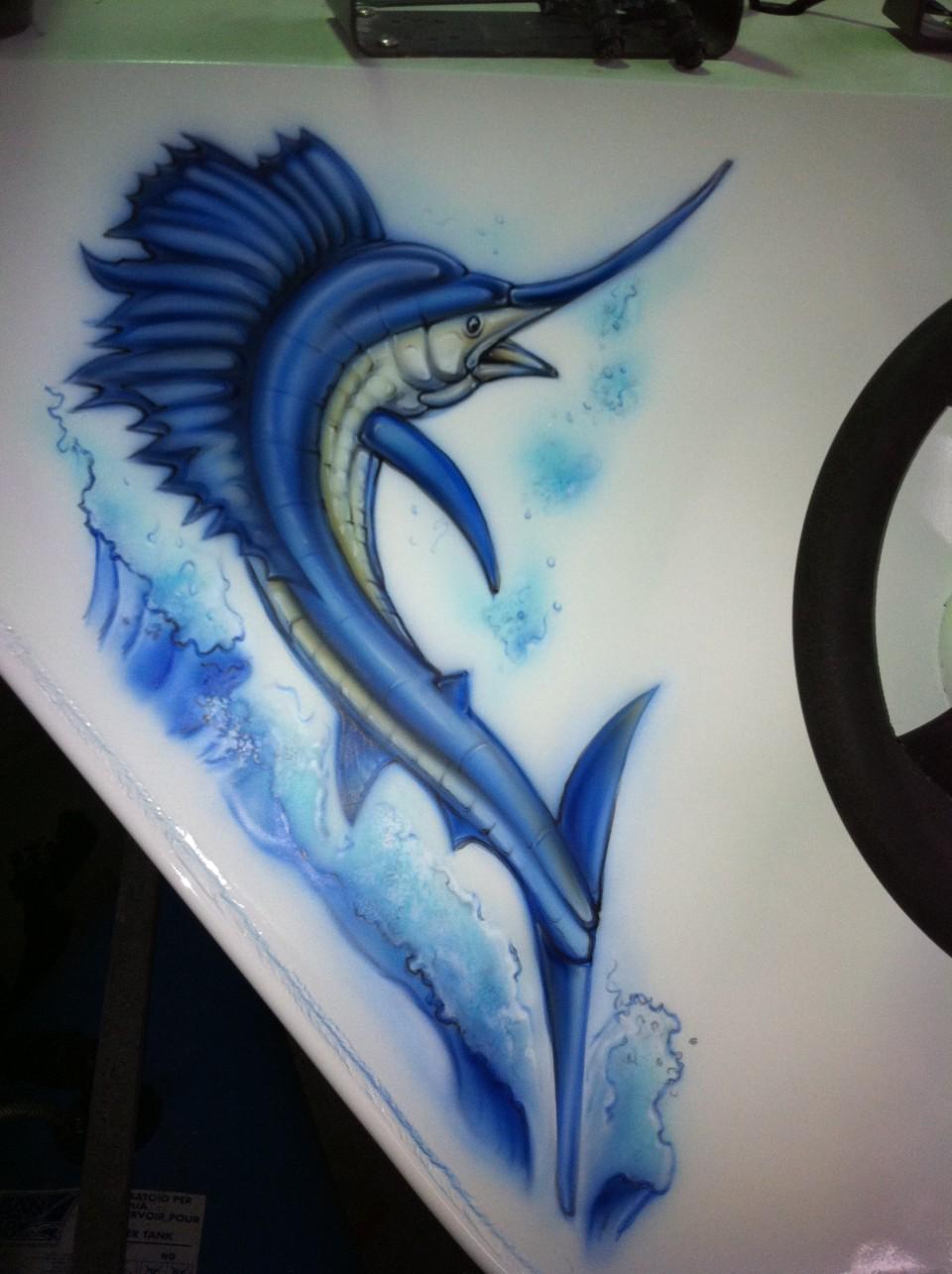 airbrush-boat-airbrush-art- airbrush-sail-fish1