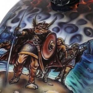airbrush-motorbike,custom--viking-motorbike-2 front close up