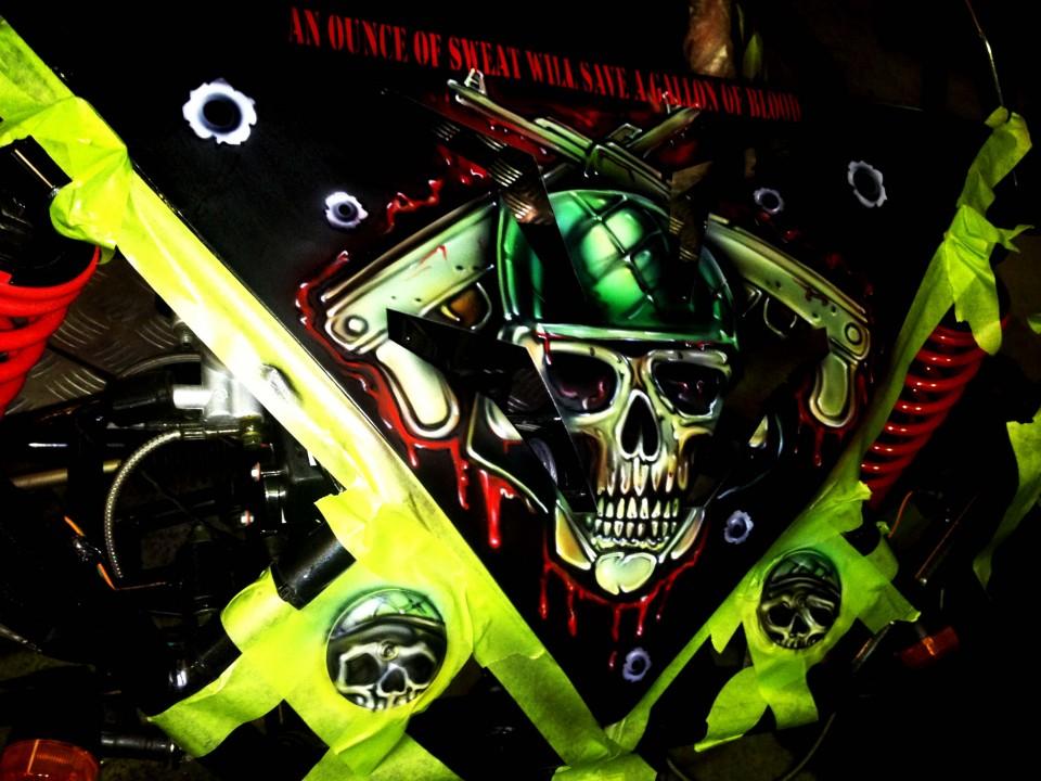 Airbrush Art-airbrush art perth-airbrush-Airbrush graphics--custom airbrush art-airbrush buggie black-airbrush car-airbrush skulls3