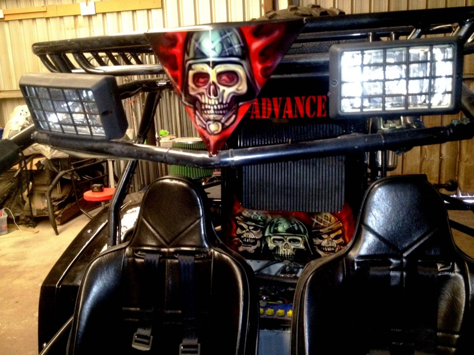 Airbrush Art-airbrush art perth-airbrush-Airbrush graphics--custom airbrush art-airbrush buggie black-airbrush car-airbrush skulls4