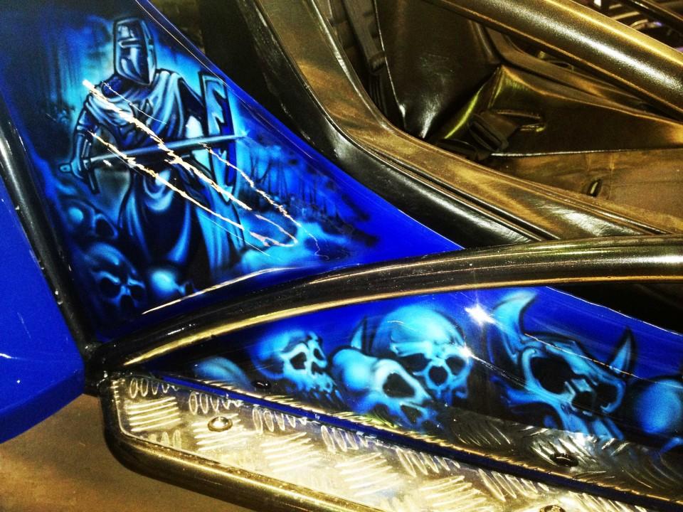 Airbrush Art-airbrush art perth-airbrush-Airbrush graphics--custom airbrush art-airbrush buggie blue-airbrush car-airbrush skulls1