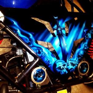 Airbrush Art-airbrush art perth-airbrush-Airbrush graphics--custom airbrush art-airbrush buggie blue-airbrush car-airbrush skulls4