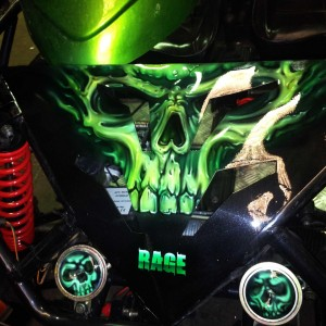 Airbrush Art-airbrush art perth-airbrush-Airbrush graphics--custom airbrush art-airbrush buggie green-airbrush car-airbrush skulls1
