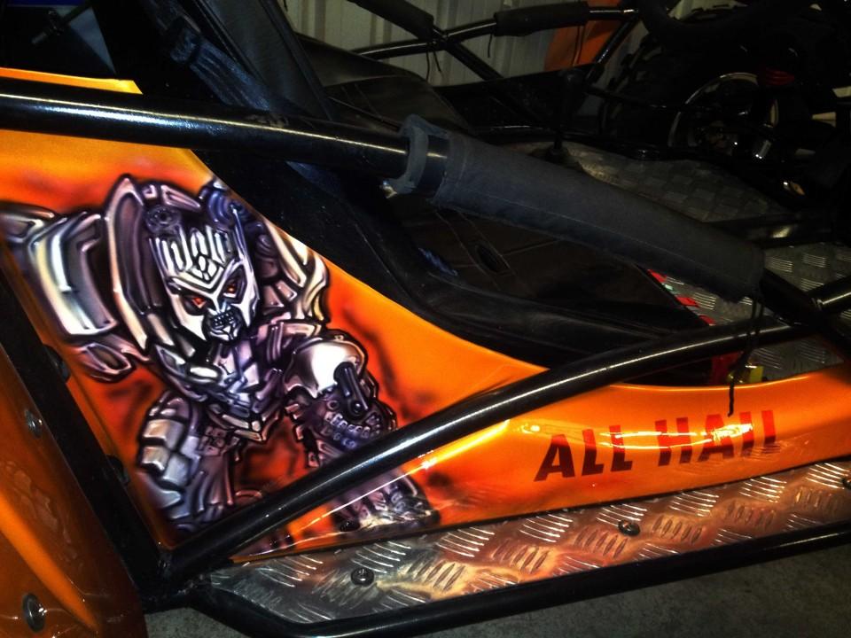 Orange Beach buggy | Airbrush Art | Professional Air Brush ...  Orange Beach bu...