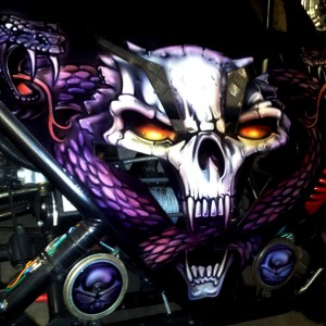 Airbrush Art-airbrush art perth-airbrush-Airbrush graphics--custom airbrush art-airbrush buggie purple-airbrush car-airbrush skulls1