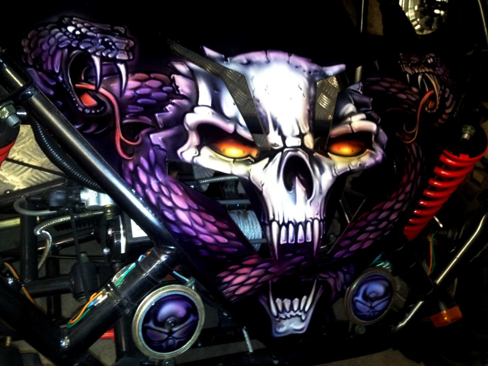 Airbrush Art-airbrush art perth-airbrush-Airbrush graphics--custom airbrush art-airbrush buggie purple-airbrush car-airbrush skulls1