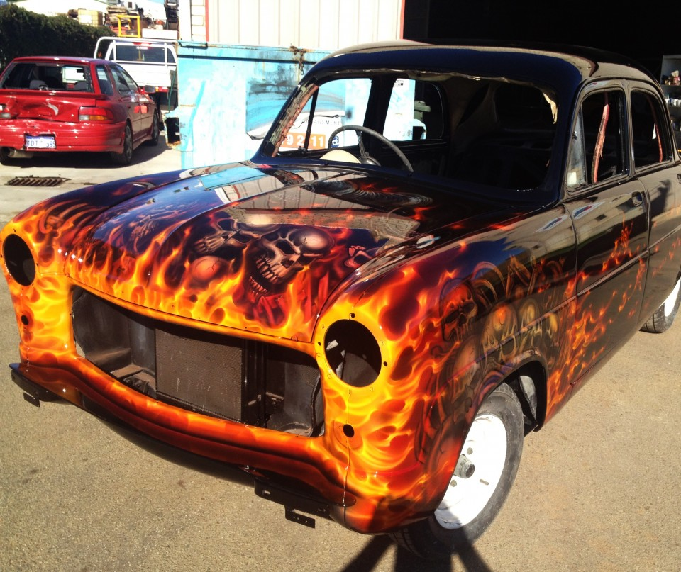 Airbrush Flames On Cars on How To Airbrush Cars