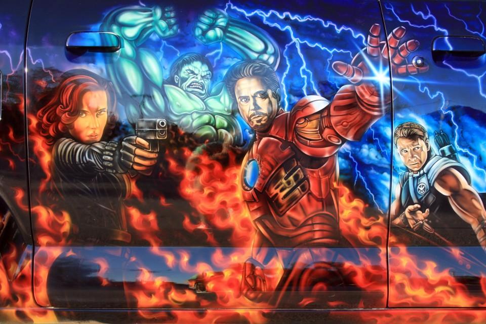 Aribrush art-Avengers-Apv Van 10