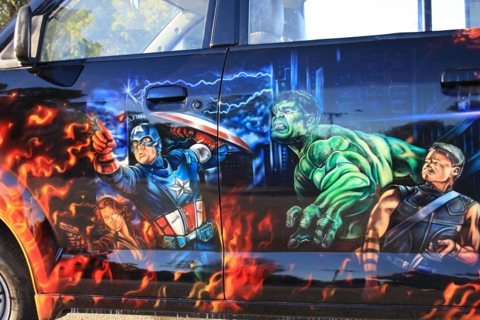 Aribrush art-Avengers-Apv Van 6