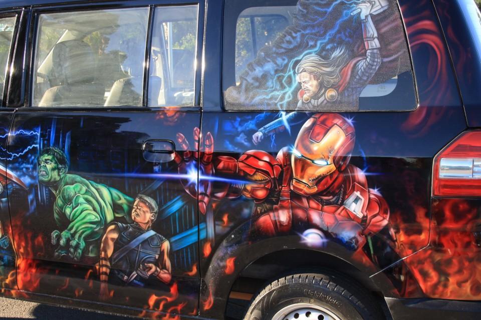 Aribrush art-Avengers-Apv Van 7