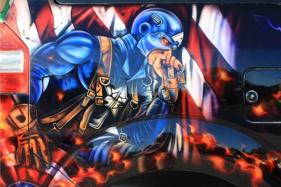 Aribrush art-Avengers-Apv Van 9