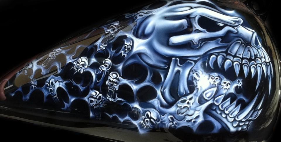 Harley Skulls Airbrush Art Professional Air Brush
